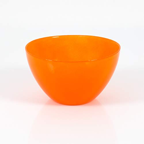 INNA Glas Coupelle décorative/Coupelle apéritif en Verre Dori, Orange, 9 cm, Ø 17 cm - Coupelle à Tapas/Coupelle déco