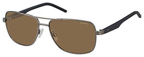 Polaroid Herren PLD 2042/S IG RW2 59 Sonnenbrille, Blau (Dkruth Bluette/Brown Pz),