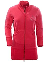TEXTPLAY - Rose Femme Zip Front Long Longueur Style SweatShirt By GEAR