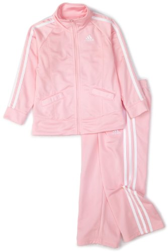 adidas Baby Girls' Tricot Zip Jacket and Pant Set, Light Pink Basic, 18 Months Infant Zip-sweatshirt