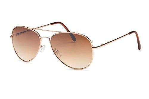 Filtral Pilotenbrille/Damen-Sonnenbrille mit Federbügelscharnier/Verspiegelt mit Verlaufstönung F3011509