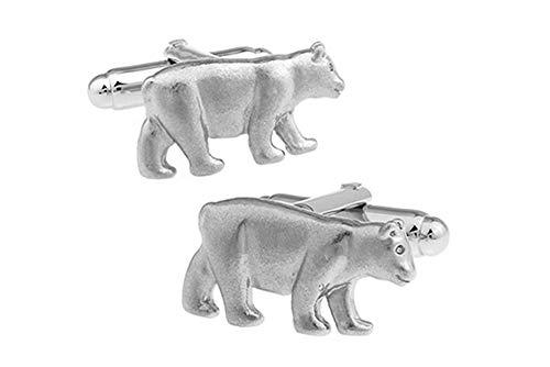 Ashton and Finch Boutons de Manchette Polar Bear dans Une boîte de présentation de Gratuite. Bijoux Fantaisie thème Animal