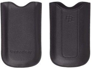 Blackberry Lederetui HDW-16218-002, schwarz für Pearl 8100, 8110, 8120