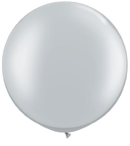 Giant Silver 36 Latex Balloon by Tri Balloons