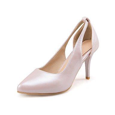 LvYuan Sandalen-Büro Kleid Party & Festivität-PU-Stöckelabsatz-Andere-Rosa Weiß Silber Pink