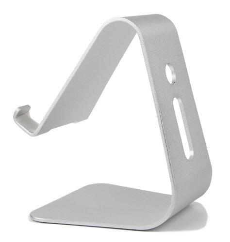 DuraGadget Alu-Tisch-Stand mit Durchlass für Kabel für IFA 2015 ARCHOS 50 Cesium, 50e Helium, Diamond Plus und Diamond S Smartphones