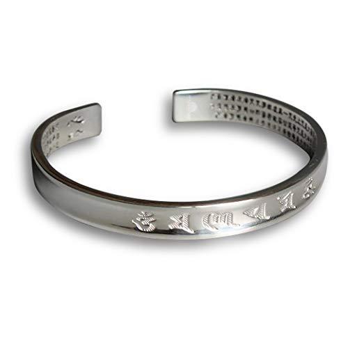 STYLE4-NATURE Tibetisch - Buddhistisches Mantra-Armband Armreif für Frauen u. Männer Geschenk für Glück & Harmonie