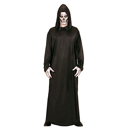 Robe Mit Schwarze Kapuze (Widmann 00013 - Erwachsenenkostüm Sensenmann, Robe mit Kapuze, Größe L,)