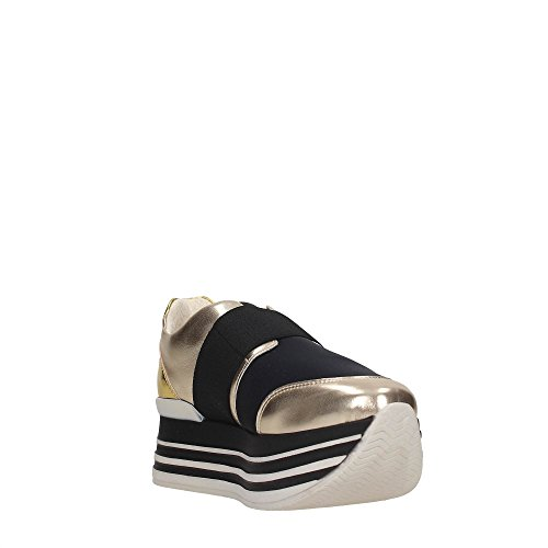 Blu Byblos 672023 Sneakers Donna PLATINO/NERO