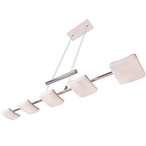 Lu-Mi® LED Deckenleuchte Designleuchte Deckenlampe modern | Deckenleuchten für Wohnzimmer, Kinderzimmer, Schlafzimmer (Pendelleuchte Hanga LED Curvo OO5)