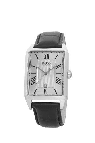 Hugo Boss - 1512438 - Gents Classic - Montre Homme - Quartz Analogique - Cadran Argent - Bracelet Cuir Noir