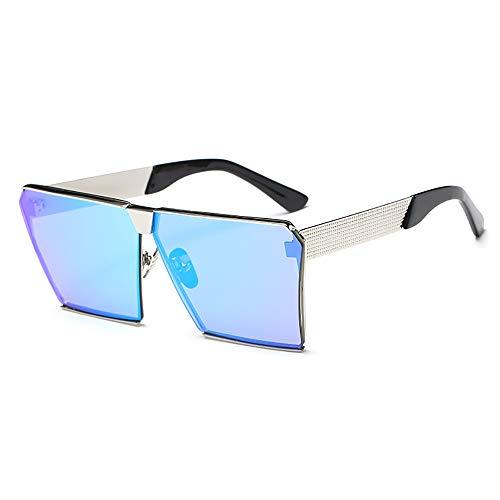 ZUEN Trend Sonnenbrillen Big Frame Square Sonnenbrillen Metal Men es und Women ' s UV Sonnenbrillen,J