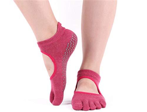 Luemdss Moda Balletto Antiscivolo con Calze da Donna Traspiranti Indossabili Semplici A Punta Yogayoga Socks Non-Slip Lady Cotton Five-Finger Socks Yoga Socks