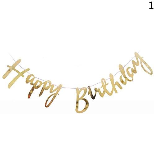 Landslide 2,5 m Happy Birthday Banner Geburtstag Banner Party Baby Dusche Dekoration Garland (Silber)
