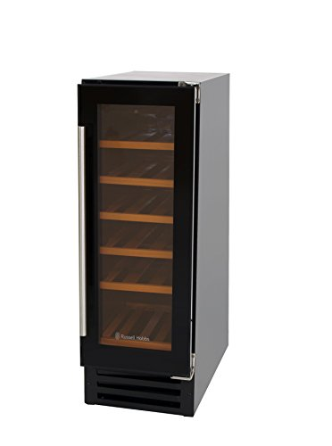 Russell Hobbs RHBI18WC1 Built-in 18 Bottle Wine Cooler, Black Glass Best Price and Cheapest