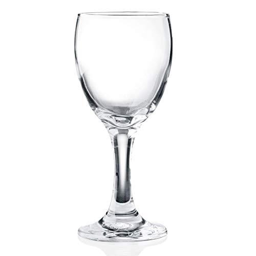 Wasserglas Trinkglas mit Stiel 0,15 l, robuste Gastronomie-Qualität, 36 STK, 6 Verschiedene Setgrößen erhältlich (6, 12, 18, 24, 30, 36 STK.), Serie Adalia
