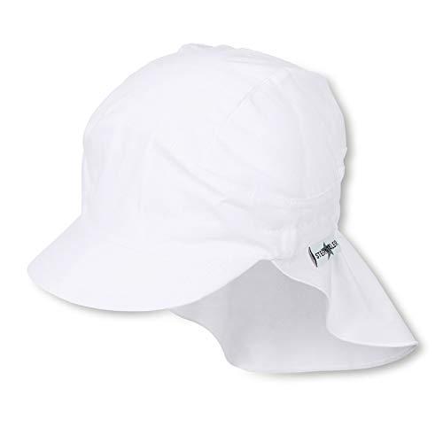 Sterntaler Unisex Schirmmütze mit Nackenschutz, Weiß (Weiss 500), 55 cm