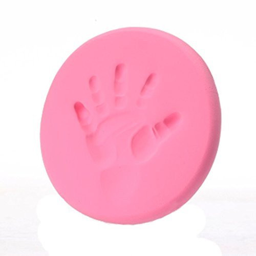 FALAIDUO Newborn Baby Air Drying Soft Clay Handprint Footprint Imprint Casting Fingerprint Clay Casting Kit (Pink)