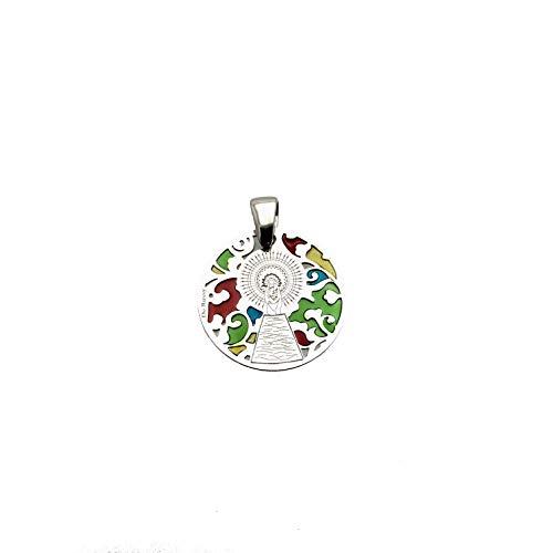 Medalla Virgen del Pilar en Plata de Ley y Esmalte