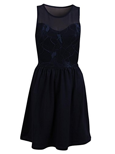 Only Onlniella S/L Lace Dress Noos, Robe Femme Bleu (Night Sky Night Sky)