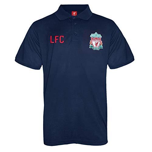 Liverpool FC - Polo oficial para hombre - Con el escudo del club - Azul marino - XL