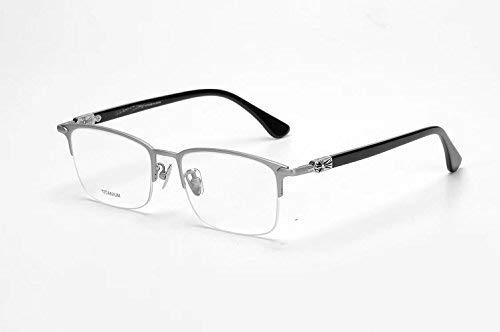 SCJ Eye Brillengestell aus reinem Titan für Männer Die Hälfte des Rahmens ist eine superleichte Wiederbelebung Alter Zollbrillen, die zusammen mit Brillen für das kurzsichtige Endprodukt verwend
