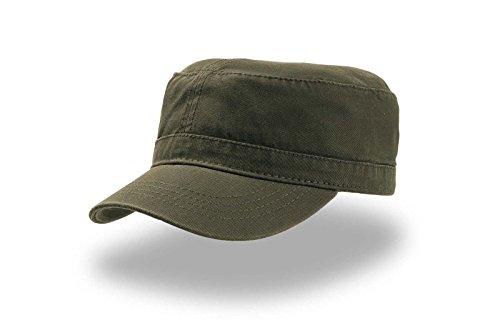 Cappellino Uomo Donna Berretto Stile Militare Mimetico Cotone Atlantis Uniform, Colore: Verde Militare, Taglia: Unica