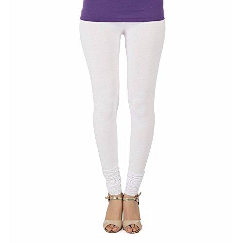 Trasa Cotton Lycra Women's Churidar Leggings - Size :- X-Large, White (Brand...