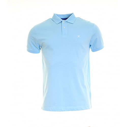 Hackett London Tailored Logo, Polo Homme Turquoise