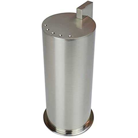 Ginger Kubic Solid Brass Vanity Jar No. 3, Large, Satin Nickel by Ginger