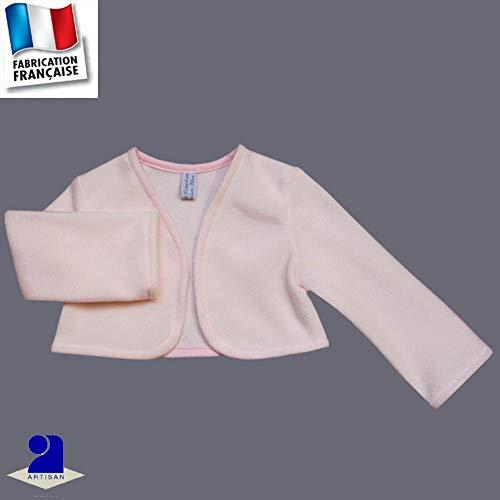 b2edbd10711c5 Poussin Bleu - Boléro polaire 1 mois-10 ans Made In France Couleur - Rose