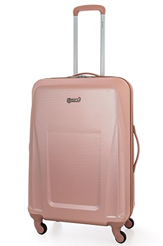 5 Cities ABS Valise Rigide Légere à 4 Roulettes , 71cm , 76L , Or Rose