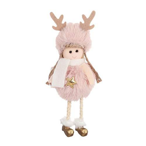 Sunnywill Noël en Peluche Ange Charme Enfant Mignon poupée poupée Cadeau Pendentif Arbre de noël