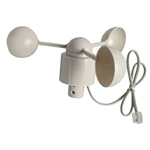 Replacement Wind Speed Sensor White For Use With Weather Station N96FY