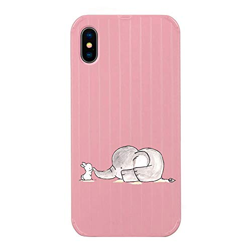 Alsoar Hülle kompatibel mit iPhone 7 Weiche Hülle,iPhone 8 Handyhüllenset,Muster TPU Silikon Bumper mit Hart Tasche Hülle,Durchsichtig Transparent Dünn Stoßfest 3D Design (Elefant)