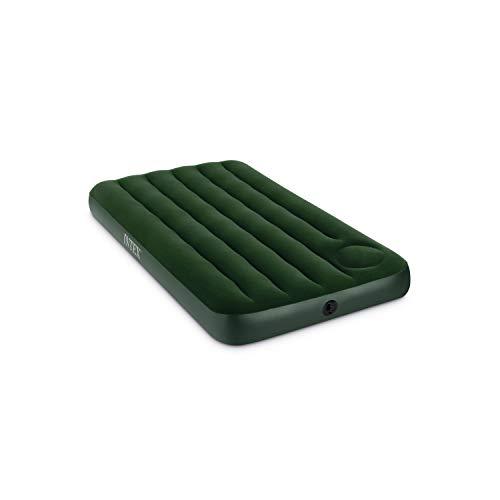 Intex 66927 Luftbett Downy Green Twin mit Fußpumpe, 99 x 191 x 22 cm