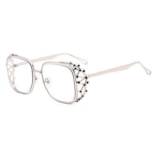 Yiph-Sunglass Sonnenbrillen Mode Persönlichkeit Graceful Crystal Full Frame Sonnenbrillen für Frauen UV-Schutz für den Urlaub Sommer Strand Fahren (Farbe : C4)