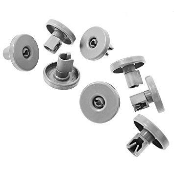 Juego de ruedas para cesta inferior de lavavajillas (8 unidades)