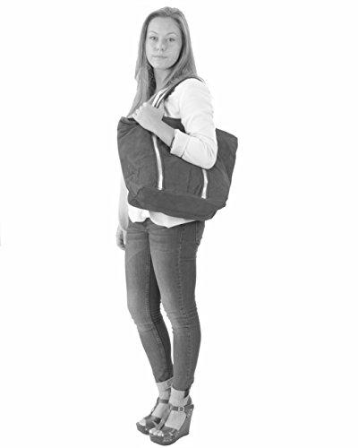 histoireDaccessoires - Borsa Pelle Donna Portata sulla Spalla - SA126423RE-Daisy Nero