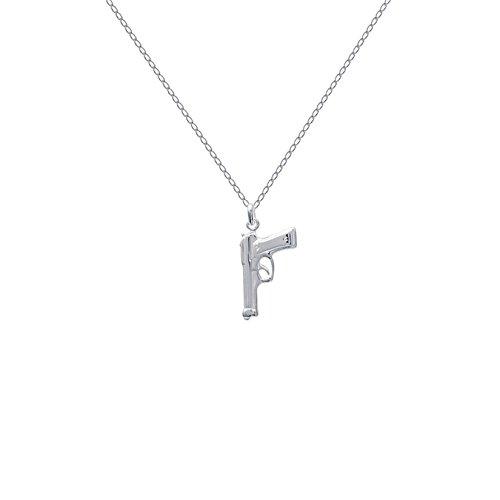 Set Anhänger Pistole aus Silber 925+ Kette 45cm aus 925Silber