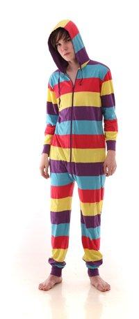 einteiliger Baumwollschlafanzug, Ganzkörperpyjama, Erwachsenenstrampler FESTIVAL FUNZEE (S)