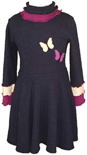 Trocadero Winterkleid Blau mit Schmetterling Handgemacht Stretch-Elastisch