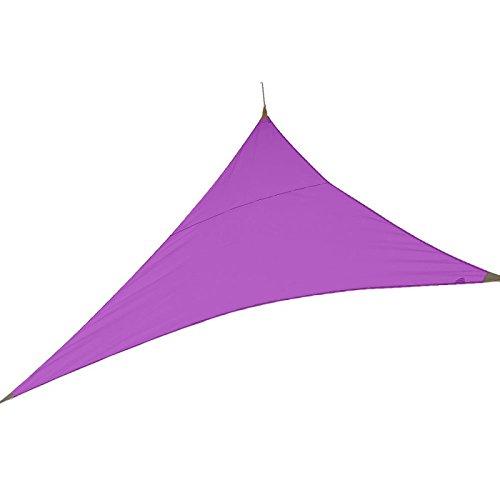 Voile d'ombrage triangulaire 3.00 m violine