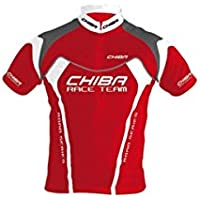 Chiba–Guanti da uomo–maglia jersey, Poliestere, Uomo, Profi Shirt, Red/White/Grey,