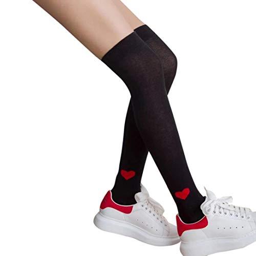 Jaysis Women Sexy Thigh High Over The Knee Socks Long Cotton Stockings Over The Knee Stockings Printed Socks