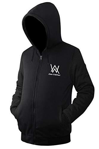 Trendsuit Adult Full Zip schwere Hoodies Graphic Hoodie Sweatshirt Kapuzen Sweater schwarz S Graphic Full Zip Hoodie