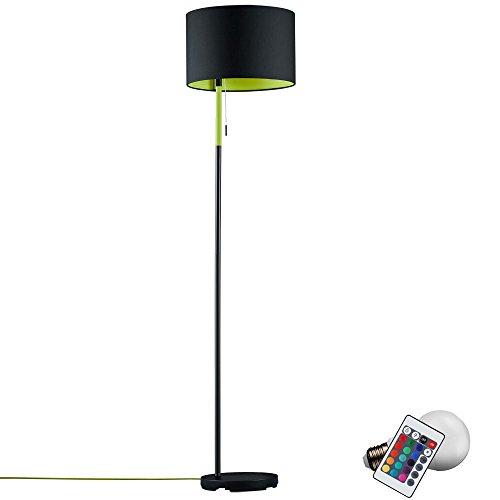 Die Lampe Stand (LED Steh Leuchte Fernbedienung Stand Lampe 7 Watt Farbwechsel Decken Fluter Dimmer)