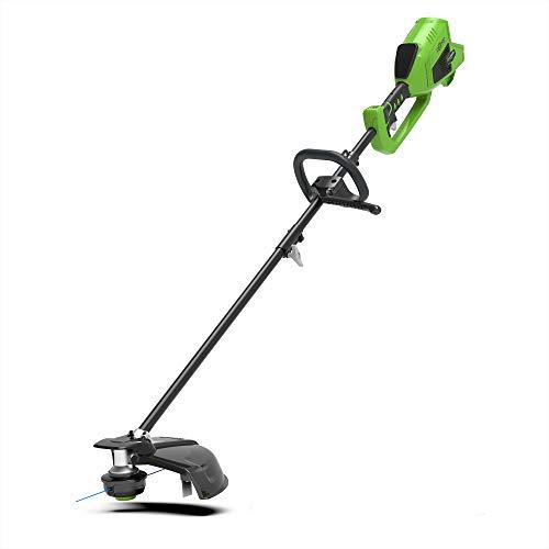 Greenworks 1301507 Desbrozadora Inalámbrica, 40 V, Verde, 35 cm, solo herramienta sin batería/cargador...
