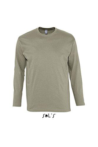 Sols Langarm T-Shirt Monarch, Khaki, XL (T-shirt Khaki-erwachsenen)