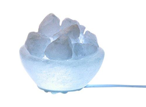 Himalaya Salt Dreams 4041678006563 Lumineux salzkristallschale Petite Ligne Rond Blanc ø 9 cm Hauteur env. 4 cm, avec LED-électrique